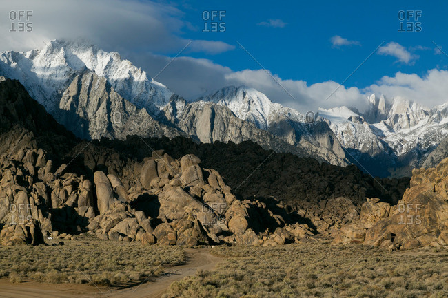 Rock formations in Alabama Hills, California