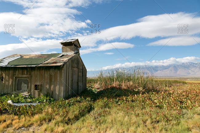 Old abandoned schoolhouse in Sierra Nevadas