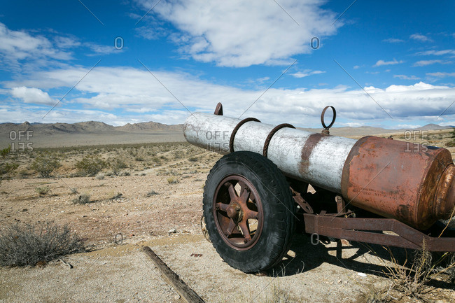 Rusted cannon in California mountains