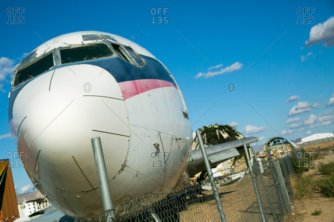 Abandoned planes in California