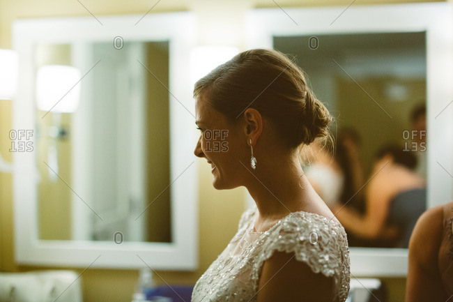Portrait of a bride in a dressing room