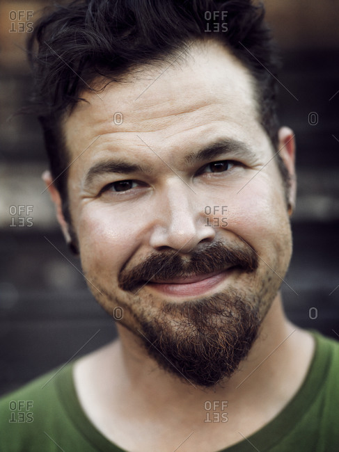 Close up of man with goatee