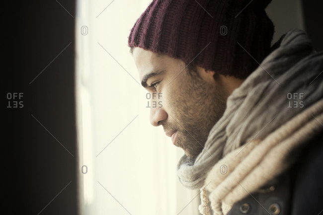 Close up of man in deep thought