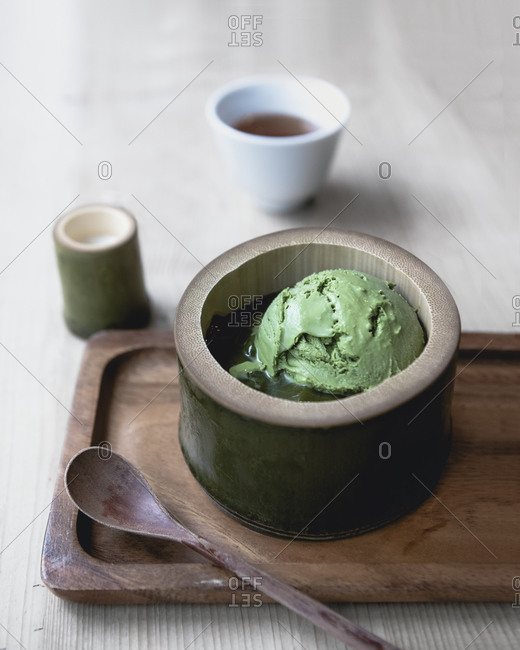 Japanese green tea ice-cream, matcha