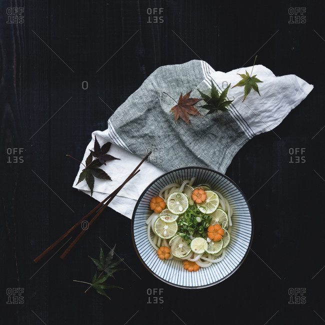 Japanese noodle and lime dish