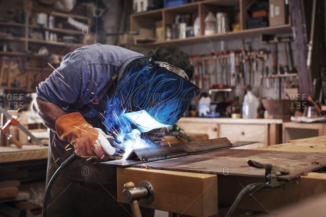Carpenter welding metal