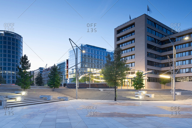 Magellan terraces and the new Hafencity, Hamburg, Germany