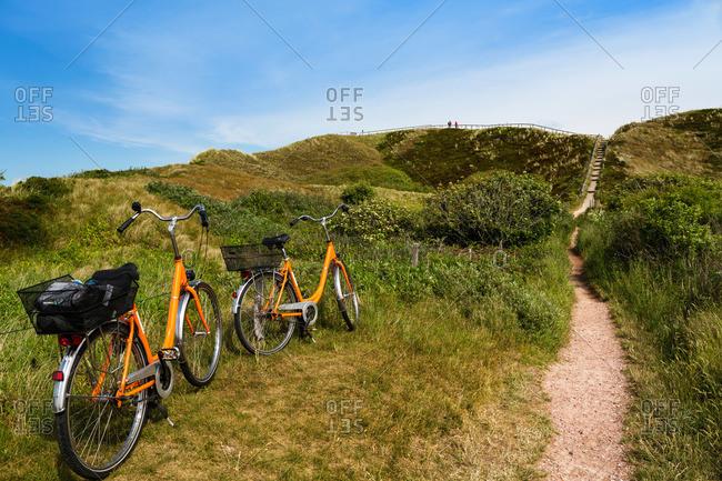 Look-out dune, Langoog Island, North Sea, East Frisian Islands, East Frisia, Lower Saxony, Germany