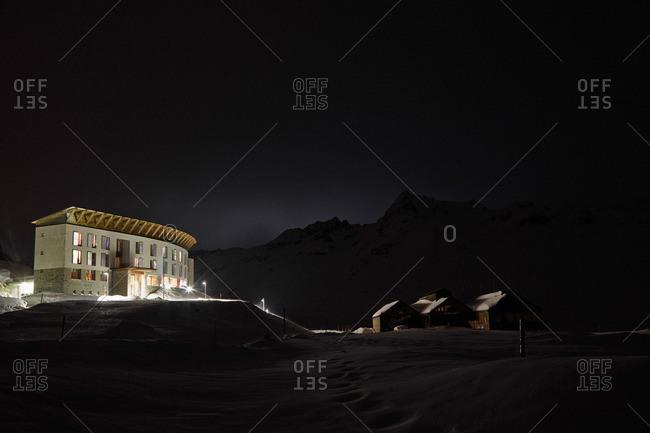 Silvretta House, Bielerhoehe Pass, Silvretta Alps, Vorarlberg, Austria