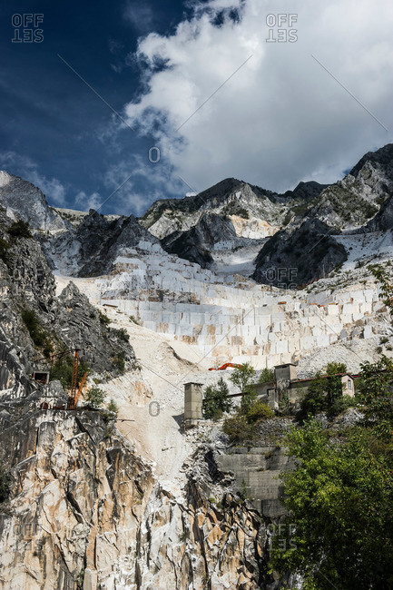 Marble quarry, Carrara, province of Massa and Carrara, Tuscany, Italy