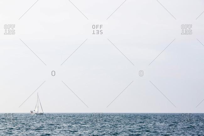 Sailing boat on Mediterranean Sea, Istria, Croatia