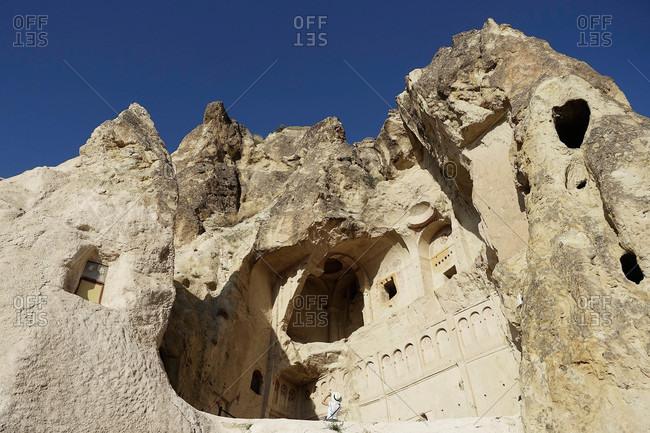 Rock carvings in Cappadocia, Turkey