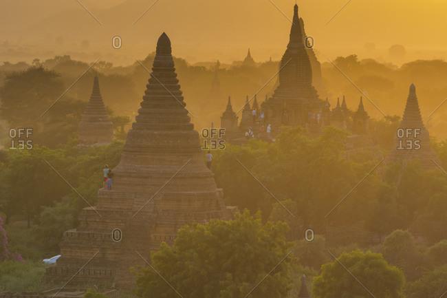 Old pagoda field at sunset, Bagan, Myanmar