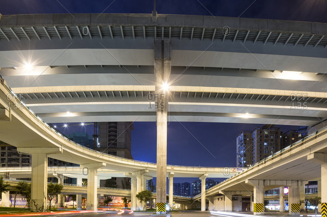 Highway overpass, Chengdu, Sichuan Province, China
