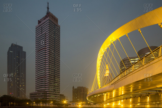 Dagu Bridge and Skyline, Tianjin, China