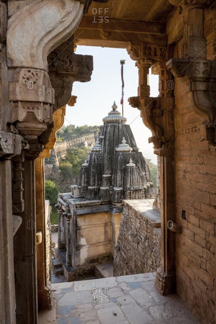View from inside the Chittaurgarh Citadel, 6th century, Rajasthan, India