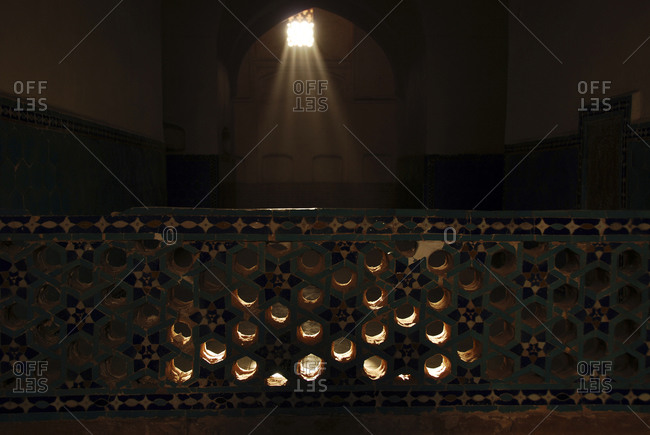 Tiles inside Jama Mosque In Old City, Yazd, Iran