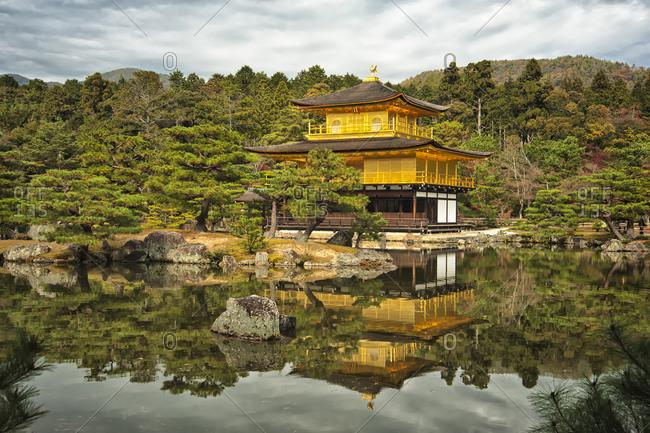 Kinkaku-ji, officially named Rokuon-ji, is a Zen Buddhist  golden temple in Kyoto, Japan