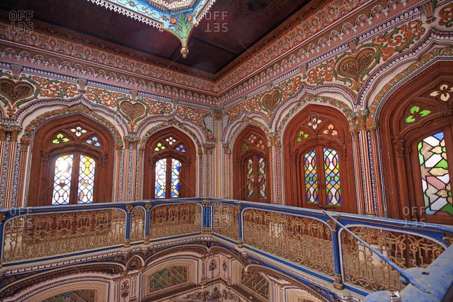 The beautiful wooden work inside Chiniot Palace, Chiniot, Pakistan