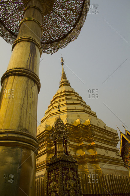 Wat Phra That Doi Suthep, golden stupa, Chiang Mai Province, Thailand