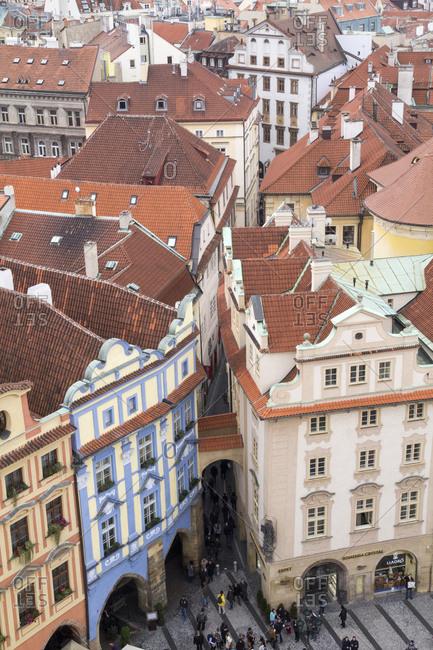 Old Town Square in Prague, Czechoslovakian Republic