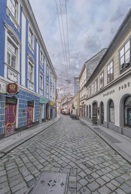 Lower Town Street, Zagreb, Croatia