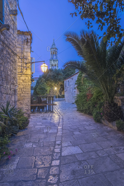 Hvar Old Town at Dawn, Dalmatia, Croatia