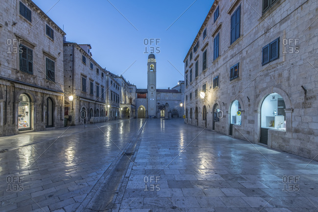 Stradun at Dawn, Dubrovinik, Croatia