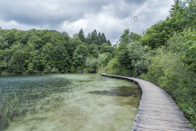 Boardwalk, Plitvice Lakes National Park, Croatia
