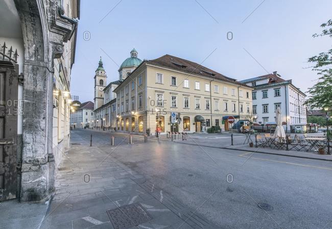 Old Town at Dawn, Ljubljana, Slovenia