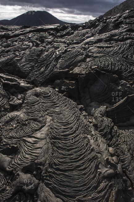 Lava Formations at Sullivan Bay, Santiago Island, Galapagos Islands, Ecuador, South America