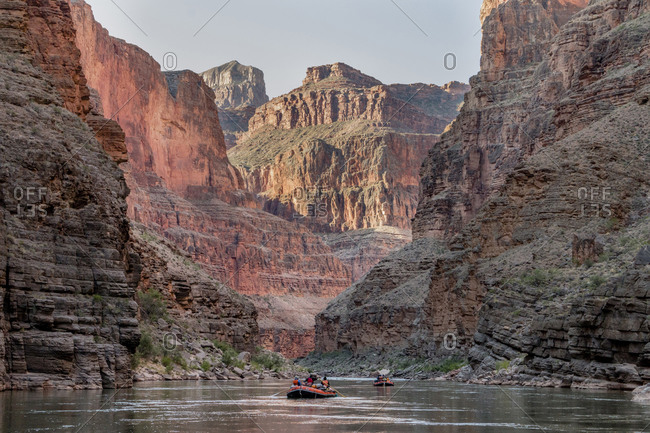 Rafting the Colorado River through Grand Canyon National Park, Arizona, USA