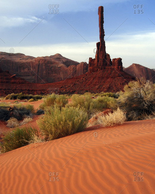 Yei Bi Chei totem poles in Navajo Tribal Park,  Monument Valley, Utah, Arizona, USA