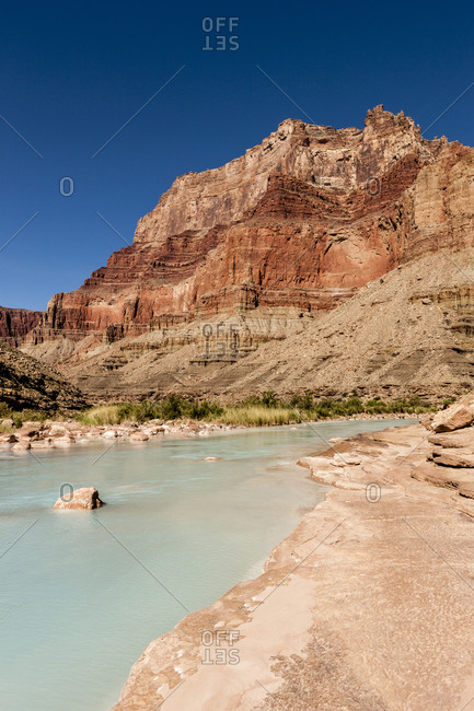 Little Colorado River intersection with the Colorado River, Grand Canyon, Arizona, USA