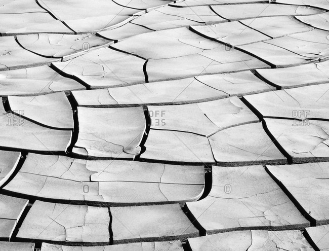 Patterns in dried mud, Death Valley National Park, California, USA