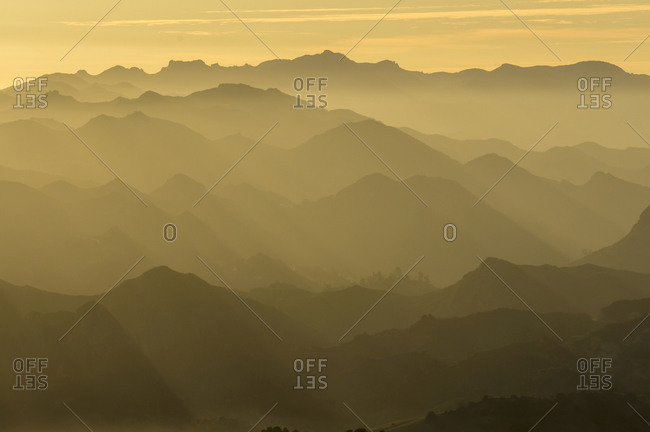 Sunset, Santa Monica Mountains, Santa Monica Mountains National Recreation Area, California