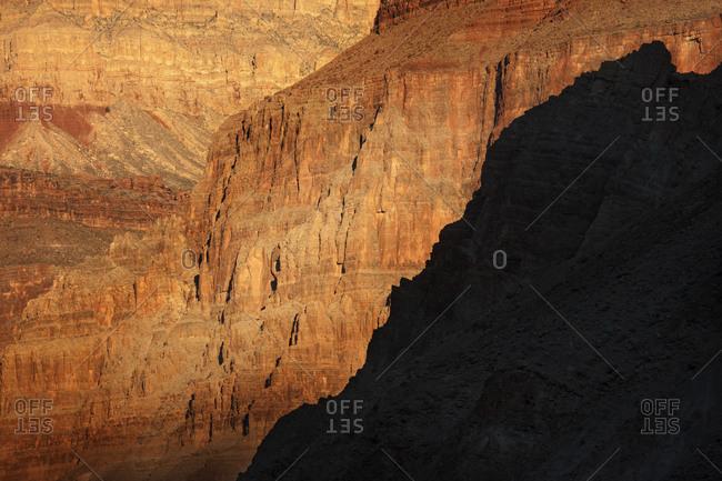 Sunrise on canyon cliffs, Grand Canyon, National Park, Arizona, USA