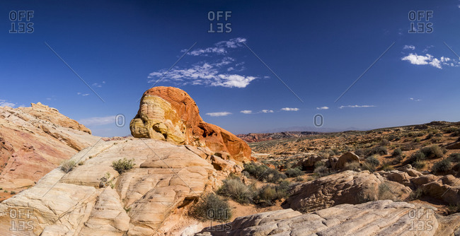 Rainbow Vista, panoramic, Valley of Fire State Park, Clark County, Nevada, USA