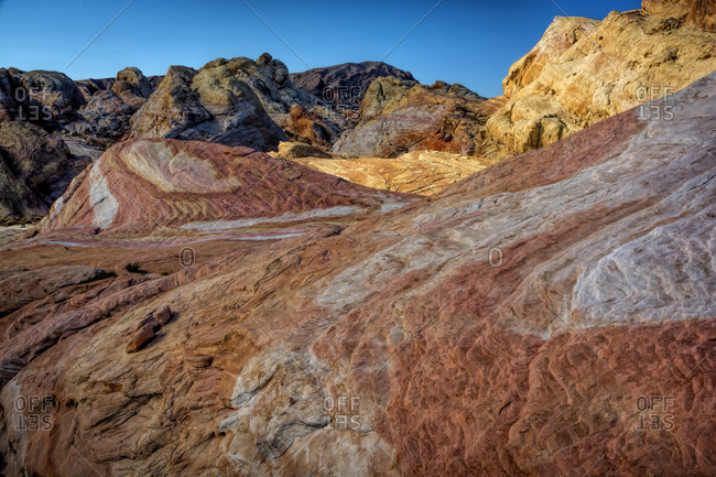Scenic view of rocky formations, Valley of Fire State Park, Clark County, Nevada, USA