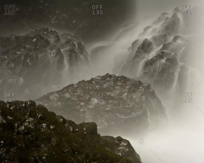 Close up detail of Latourell Falls, Guy W. Talbot State Park, Oregon, USA