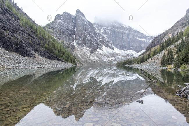 Lake in late fall in Alberta, Canada
