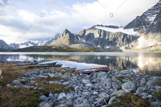 Amethyst Lake and Tonquin Valley in Jasper National Park, Canada