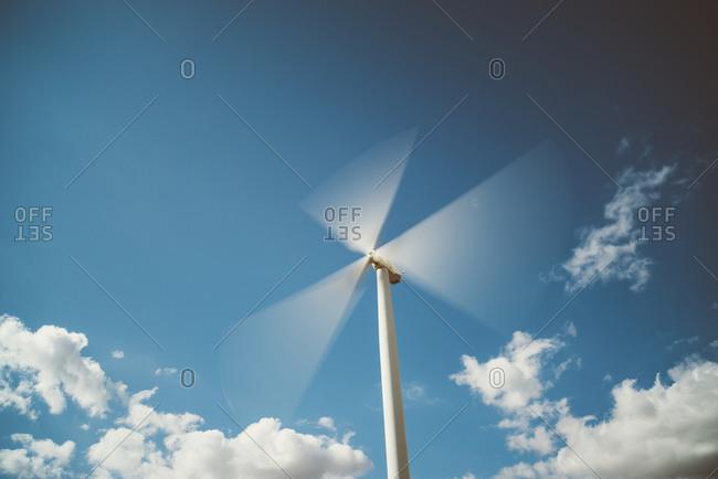Rotating wind wheel, Lleida, Spain