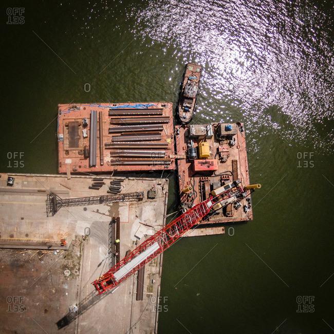 Seaport in Klaipeda, Lithuania