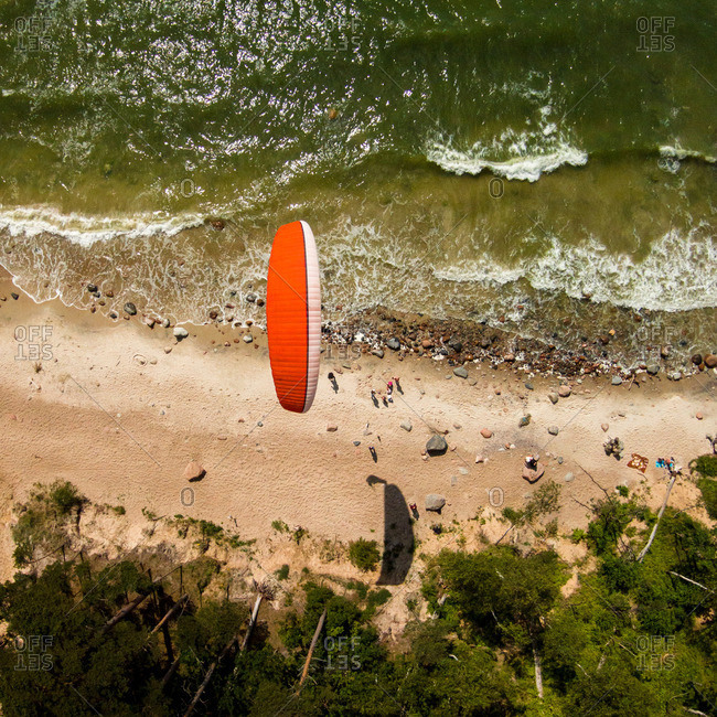 Glider on the coast of the Baltic Sea, Lithuania