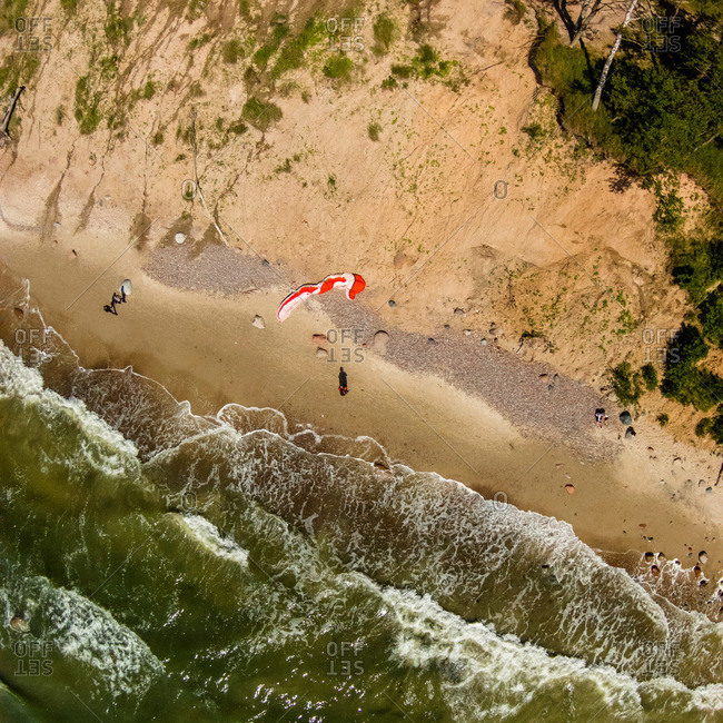 Glider on coast of the Baltic Sea, Lithuania