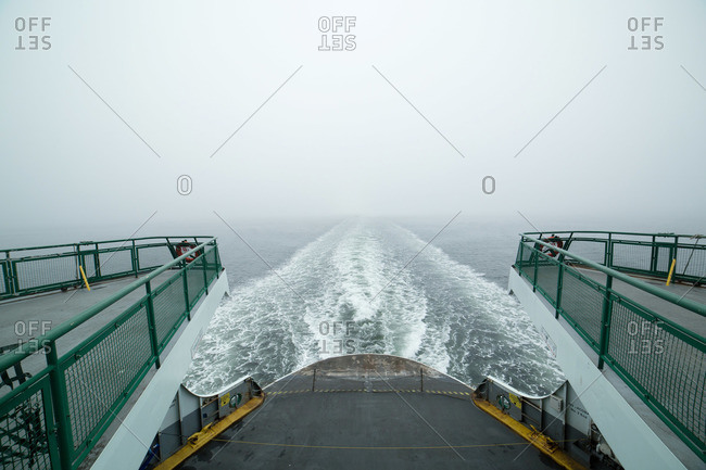 View of wake from a ferry boat