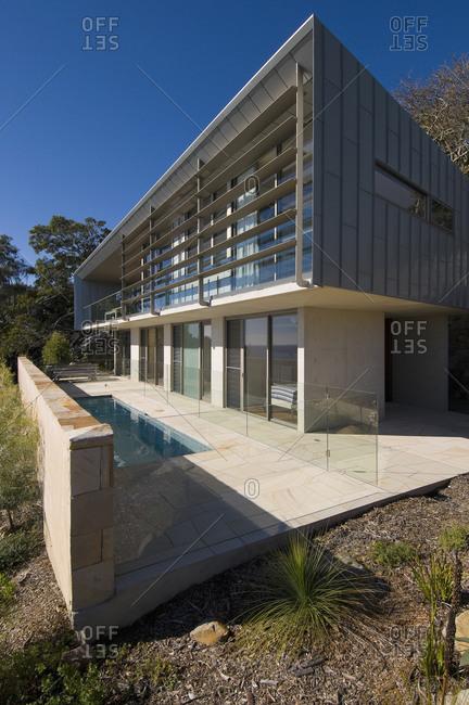Sydney, Australia - June 11, 2010: Exterior of a modern house