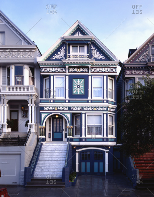 San Francisco, CA, USA - June 22, 2004: Victorian style house