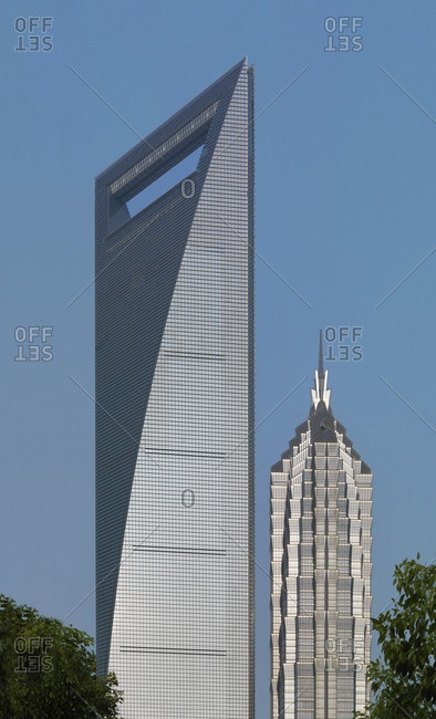 Shanghai, China - August 2, 2008: Jin Mao Tower and World Financial Center